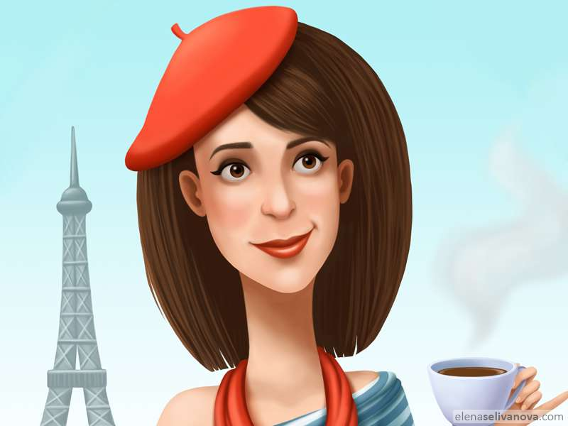 Parisienne - Art of Elena Selivanova