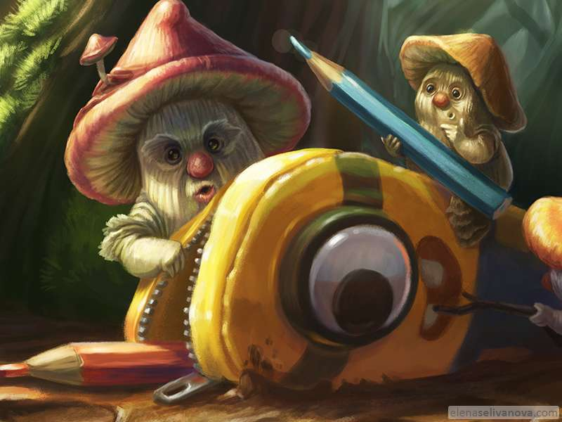 Minion in mystery forest - Art of Elena Selivanova