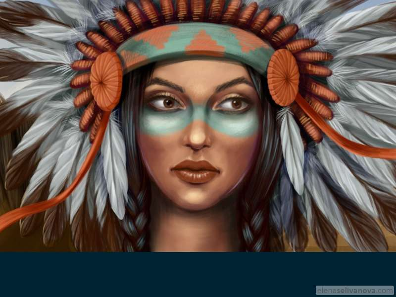 Native american - Art of Elena Selivanova