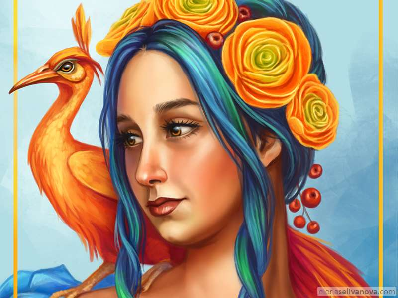 Phoenix girl - Art of Elena Selivanova