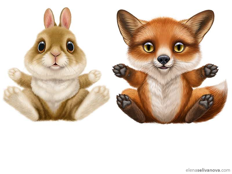 Animal babies - Art of Elena Selivanova
